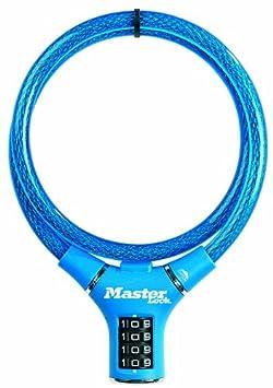 Master Lock Kabelschloss mit Einstellbarer Zahlenkombination 8229COL