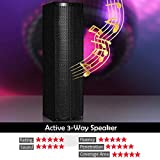 GOFLAME All-in-one Loud Bluetooth Speaker Set of 2, 200W Active 3-Way 6.5'' PA System Speaker with Height Adjustable Stand, USB/SD Card Readers, FM Radio, Suitable for Indoor and Outdoor Use