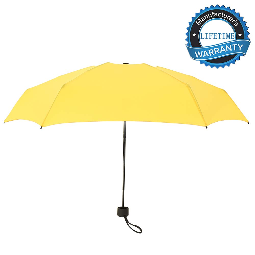 YUI Travel Mini Umbrella Sun&Rain Lightweight Totes Small and Compact Suit for Pocket Yellow by YUI Galleria (Image #5)
