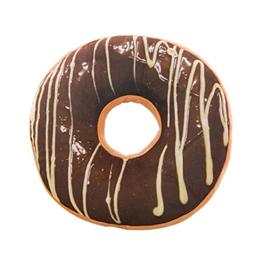 [Lookatool New style Doughnut Shaped Ring Plush Soft Novelty Style Cushion Pillow (38CMX38CMX7.5CM,] (Car Wash Costume Ideas)