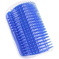 ZLYL Pet Cat Brush Comb Play Toy Plastic Scratch Bristles Arch Self-Groomer Massager Scratcher With Catnip Nailed to Wall, Pet Hair Remover