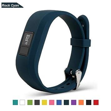 Bemodst Correa Strap para Reloj Garmin Vivofit 3, Pulsera de Silicona Brazalete de Reemplazo Banda de Repuesto para Hombre Mujer (Cian): Amazon.es: Deportes ...