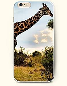 iPhone 6 Plus Case 5.5 Inches Giraffe Wants to Eat Leaves - Hard Back Plastic Case OOFIT Authentic