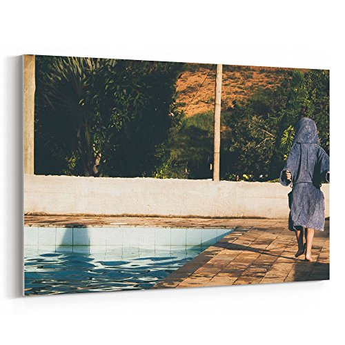 Westlake Art - Pool Photography - 12x18 Canvas Print Wall Art - Canvas Stretched Gallery Wrap Modern Picture Photography Artwork - Ready to Hang 12x18 Inch (5C20-F9160)