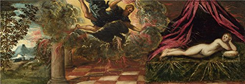 Oil Painting 'Jacopo Tintoretto Jupiter And Semele', 20 x 58 inch / 51 x 147 cm , on High Definition HD canvas prints is for Gifts And Gym, Laundry Room And Study Room Decoration, toart (Paul's Fruit Market Gift Basket)
