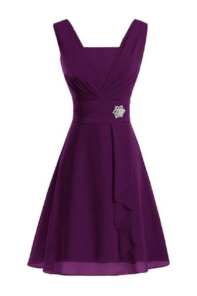 Third Second Women's Elegant Chiffon Mother's Dresses Grape US 16