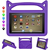 F i r e Tablet 7 Case Kids-Dinines Anti Slip Shockproof Light Weight Kids Friendly Protective Case for A m a z o n F i r e 7 2017-Compatible with F i r e 7 (5th Gen, 2015) (Purple)