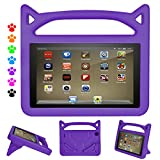 Fire HD 8 Tablet Kids Case-Dinines Light Weight Shock Proof Durable Kid-Proof Cover Case for All-New Fire HD 8 Tablet (8th Generation 2018/6th Generation 2016/7th Generation 2017) (Purple)