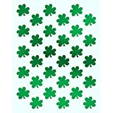 "Shamrockin' St. Patrick's Day Party Metallic Shamrock Stickers , Green, Paper , 6"" x 4 1/2"", Pack of 3"