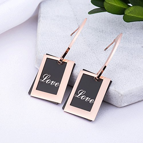 - steel box earrings earrings women girls exaggerated personality creative atmosphere rose gold trinkets