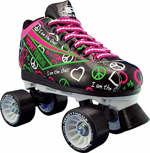 Pacer Heart Throb Roller Skates (Black, Size (Heart Skate)