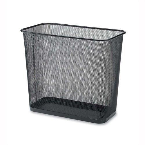 Rectangular Waste Bin,Steel Mesh,10x16-7/10x14-7/10,Black (Office Trash)
