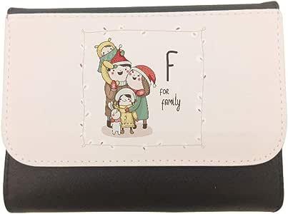 محفظة جلد  بتصميم عائلة سعيدة، مقاس 11cm X 14cm