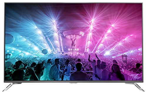 Philips 75PUS7101/12 190,5 cm (75 Zoll) Ultraflacher Android 4K-Fernseher mit 3-seitigem Ambilight und PixelPrecise Ultra HD dunkelsilber