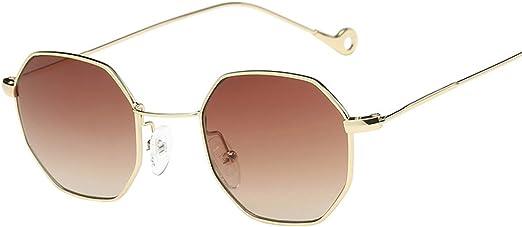 Tinted Sunglasses Polygon Frame Gradient Vintage For Men Women Retro Eye-wear