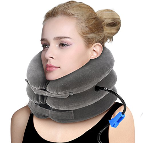 (P PURNEAT Cervical Neck Traction Device Inflatable & Adjustable Neck Brace Collar for Home Traction Spine Alignment 【2019 Upgraded Version】)