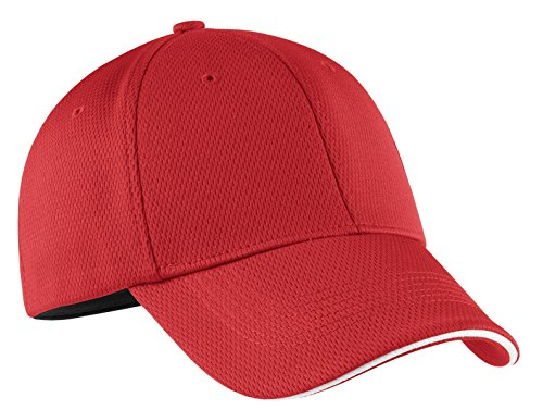 (NIKE Golf - Dri-FIT Mesh Swoosh Flex Sandwich Cap. 333115 Sport Red M/L)