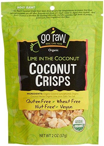 Go Raw Organic Coconut Crisps-Lime-2 oz