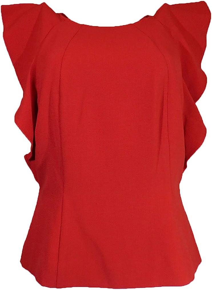 Katherine Kelly Sleeveless Tops Paprika Size-S
