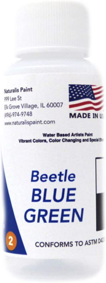Naturalis Paint Color-Changing & Special Effect Water-Based Artist Paint (Beetle Blue Green) - 1 oz
