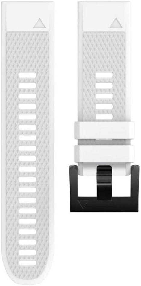 coersd - Correa de Repuesto para Reloj Garmin Fenix 5 Plus, 220mm, Blanco: Amazon.es: Deportes y aire libre