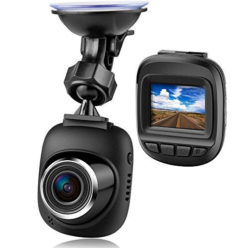 Hodleys Mini LCD Car DVR Camera Recorder, High Definition 1080P with Night Vision, Support Micro SD Card (With 16G Card), Built-in Microphone and Speaker