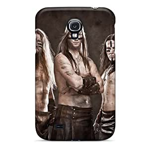 Scratch Resistant Hard Phone Cover For Samsung Galaxy S4 (hLw19537fLJL) Provide Private Custom Realistic Amon Amarth Band Skin