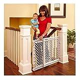 Baby Safety Gate Walk Thru Easy Step Toddler Pet Child Stairway Infant Dog Fence