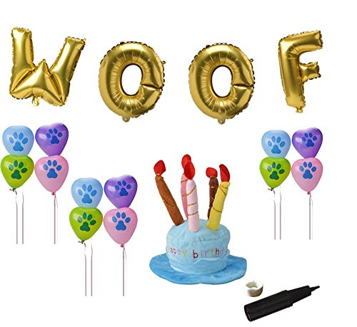 BINGPET Dog Birthday Decorations Kit