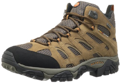 Merrell Men's Moab Mid Waterproof Hiking With CampingForFoodies Desert Hiking Tips And Techniques For Beginners To Have Confidence With The Proper Gear, Boots, Clothing, First Aid And Hiking Essentials