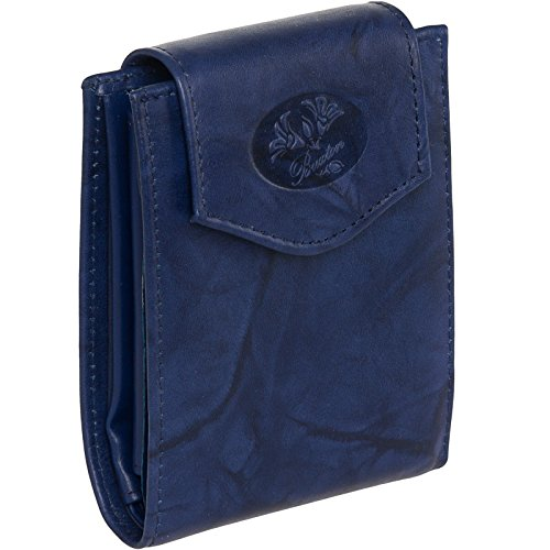 Buxton Women's Genuine Leather Heiress Collection Convertible Wallet, Navy, One Size from Buxton