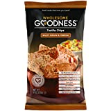 Wholesome Goodness Multigrain and Flax Tortilla Chips - Cholesterol Free, Gluten Free, Low Sodium Chips - 9oz (8 Pack)
