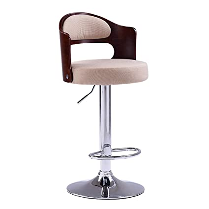 Bar Furniture Nice Bar Stools Bar Chair Rotating Lift Backrest Chair High Stools Home Creative Beauty Round Stool Stylish Minimalist Swivel Chair