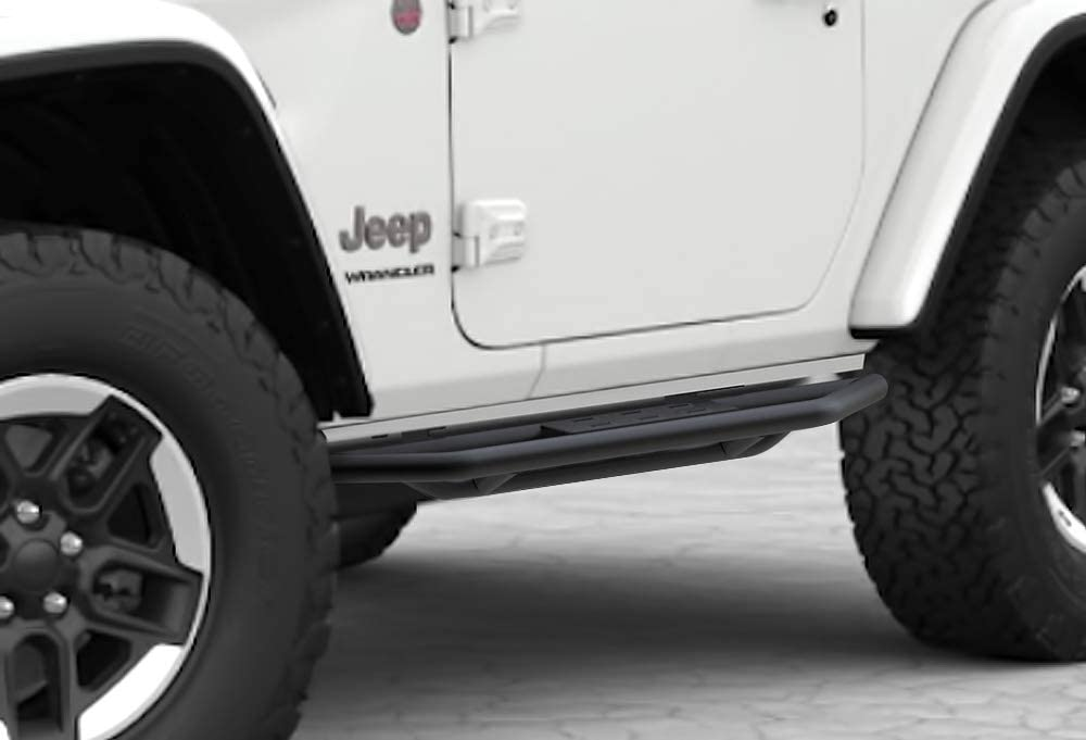 APS iArmor E-Coating Rock Slider Side Armor Custom Fit 2018-2020 Jeep Wrangler JL Sport Utility 2-Door iArmor Off-Road Black Rock Slider Side Armor