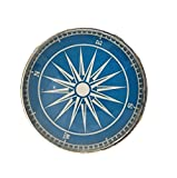 #6: Nautical Boat Compass Glass Knob for Dresser Drawers, Cabinet Drawers, Kitchen Cabinets - Pack of 12 Knobs