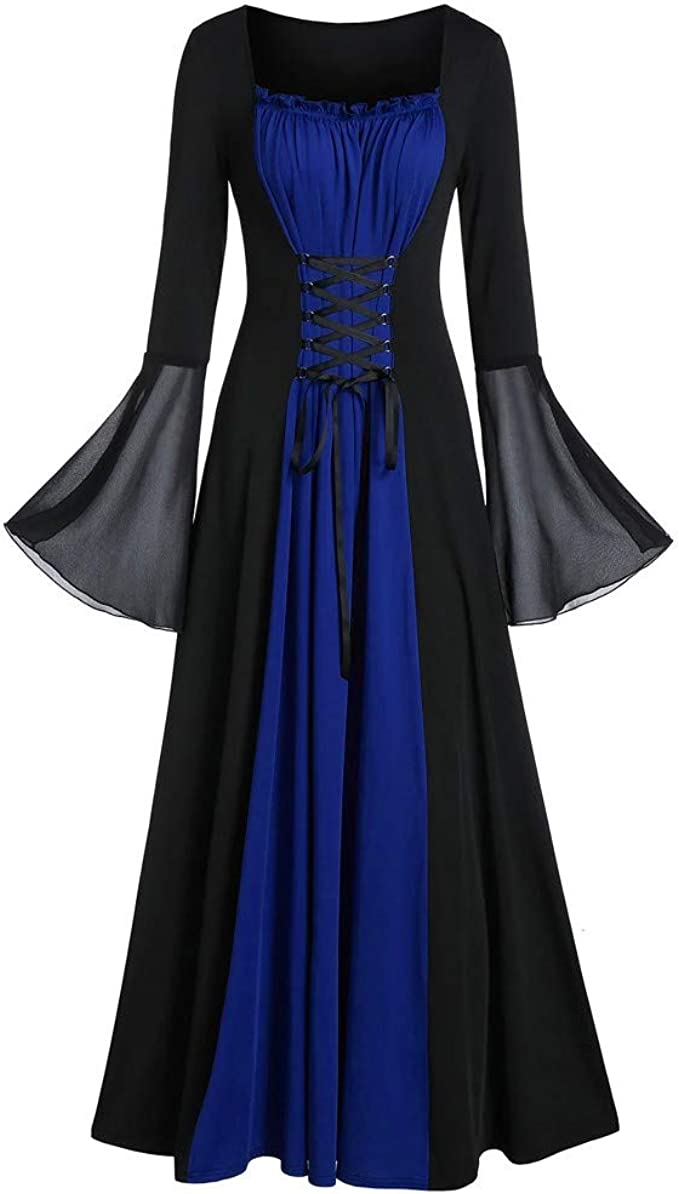 Weant Mittelalter Kleidung Damen, Frauen Vintage Party Ballkleid