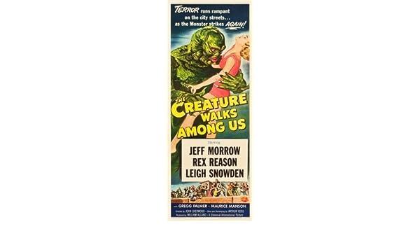 THE CREATURE WALKS AMONG US Movie POSTER 14x36 Insert Jeff Morrow Rex Reason