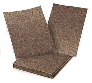 100-pack assorted grits 9 by 11 Sungold Abrasives 13023 Aluminum Oxide Sanding Sheets