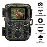 TargetEvo Hunting Trail Camera 12MP 1080P Wildlife Game Scouting Camera with 65ft Infrared Night Vision, 0.45s Trigger Speed, 2.0'' LCD Screen, 60 Detection Angle, IP56 Waterproof
