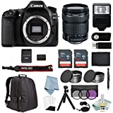 Canon EOS Rebel 80D Bundle With 18-135mm IS USM Lens + Canon 80D Camera Advanced Accessory Kit - Including EVERYTHING You Need To Get Started