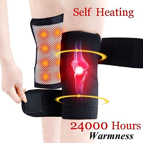 Magnetic Heating Pad - 1 Pair Self Heating Kneepad Knee Support Belt Magnetic Tourmaline Therapy Knees Massager