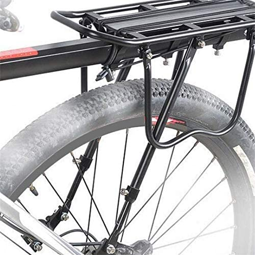 Negro Triamisu Portaequipajes Trasero de Bicicleta MTB Asiento del Poste Portaequipajes Porta Equipaje 25KG Portaequipaje Trasero de Bicicleta de liberaci/ón r/ápida con Reflector