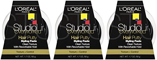 Control Loreal Studio - L'oreal Paris Studio Line Texture and Control Overworked Hair Putty 1.7 oz (3 Pack)
