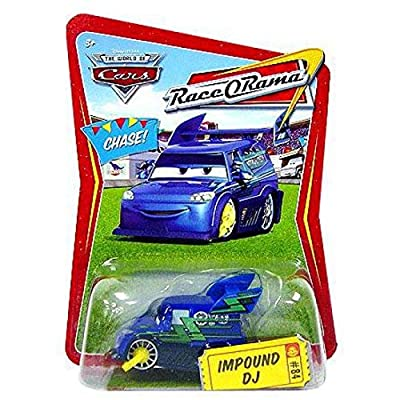 Disney / Pixar CARS Movie 155 Die Cast Car Series 4 RaceORama Impound DJ Chase Piece!: Toys & Games