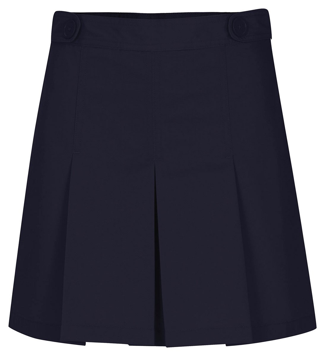 Classroom Junior's Hipster Scooter Skirt with Pleats, Dark Navy, 3/4 by Classroom Uniforms