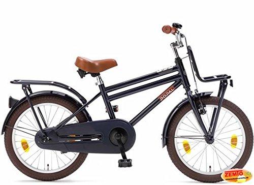 Plezier Jungen Hollandrad 18 Zoll Cooper Dunkelblau Transportrad
