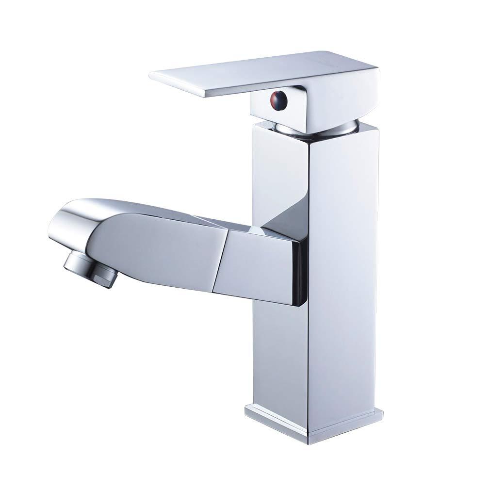 Auralum - Grifo WC Bidet Mezclador Bidé Monomando con Aireador Latón Cromado