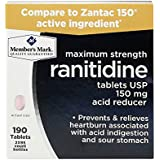 Member's Mark Ranitidine Acid Reducer 150 Mg 190 Tablet Count - Compare to Zantac 150