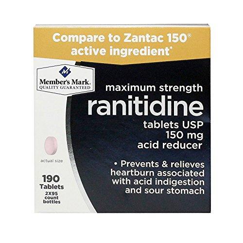 Member's Mark Maximum Strength Ranitidine Tablets USP 150mg Acid Reducer (4 bottles (380 tablets))