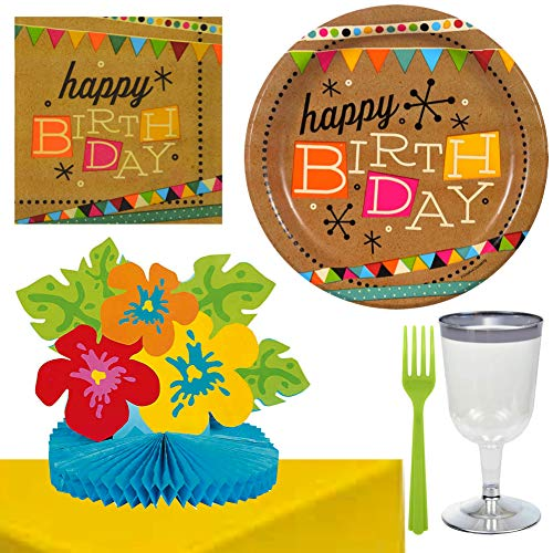 Mid Century Modern Retro 50s Party Decorations & Happy Birthday Supplies For 16 -